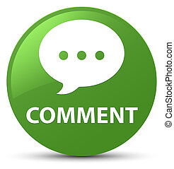 Comment (conversation icon) soft green round button
