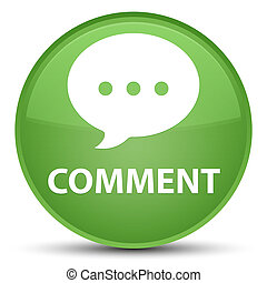 Comment (conversation icon) special soft green round button