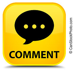 Comment (conversation icon) special yellow square button