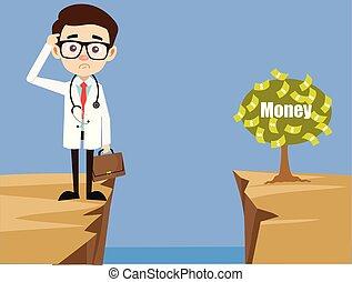 comment, docteur, portée, -, fin, plante, pensée, professionnel, argent