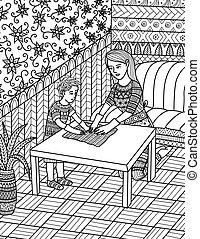 comment, enseigner, maman, propre