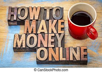 comment, faire, argent, ligne