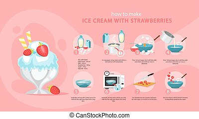 comment, faire, glace, maison, crème