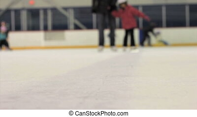comment, girl, patin, apprentissage, glace