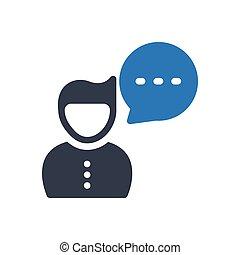 comment  glyph color icon