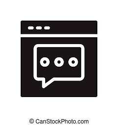 comment  glyph flat icon