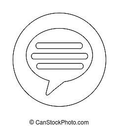 comment icon illustration design