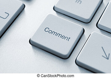 Comment Key - Comment button on the keyboard. Toned Image.