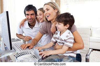 comment, leur, enseignement, soucier, informatique, parents, enfants, usage