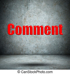 comment on concrete wall