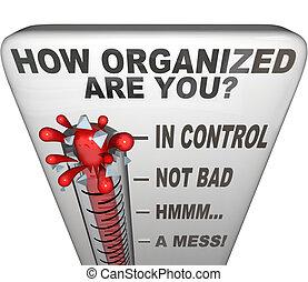 comment, organisé, are, vous, thermomètre, mesure, propre, ordre