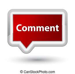 Comment prime red banner button