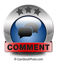 comment sign or icon, feedback on blog and give your opinion...