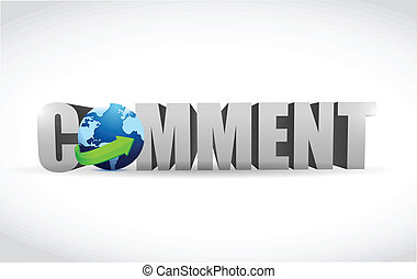 comment text illustration design