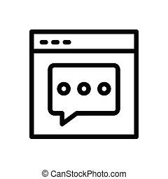 comment  thin line icon