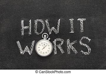 comment, travaux, montre, il