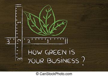 comment, vert, est, ton, business?