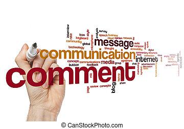 Comment word cloud concept