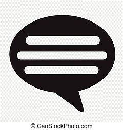 commentaar, pictogram