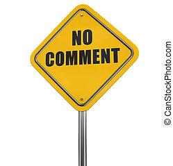 commentaire, non, panneaux signalisations