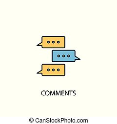Comments concept 2 colored icon. Simple blue element illustration. Comments concept symbol design. Can be used for web and mobile