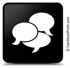 Comments icon black square button