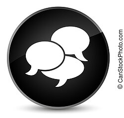 Comments icon elegant black round button
