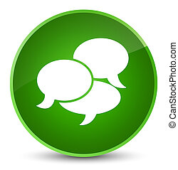 Comments icon elegant green round button