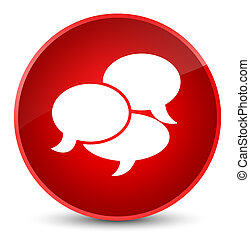 Comments icon elegant red round button
