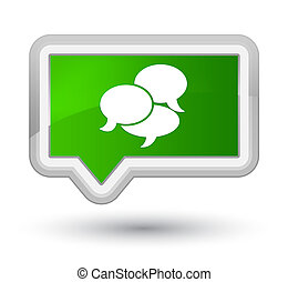 Comments icon prime green banner button