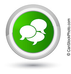 Comments icon prime green round button