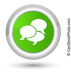 Comments icon prime soft green round button