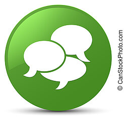 Comments icon soft green round button