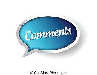 comments message communication bubble