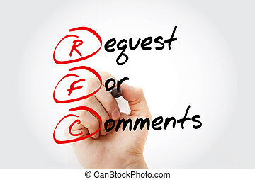 comments, rfc, acronyme, demande