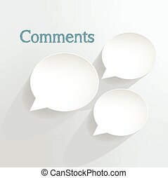 Comments speech bubbles.