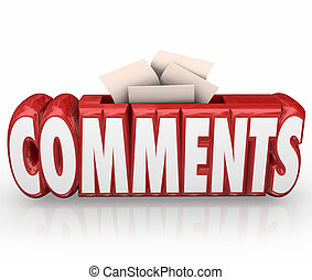 Comments Submit Ideas Suggestion Word Box Feedback Reviews