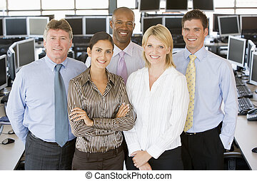 commerçants, équipe, stockage