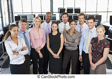 commerçants, photo, stockage, groupe, équipe