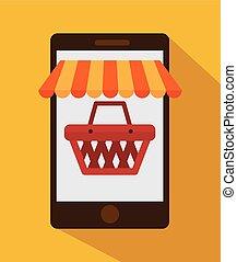 commerce, électronique, conception
