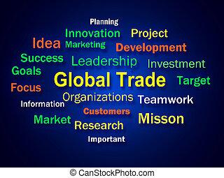 commerce, commerce global, signification, planification, international, idée génie
