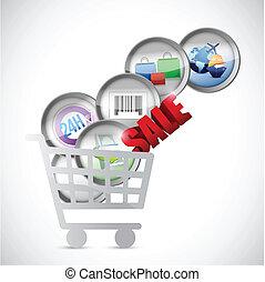 commerce, concept, chariot