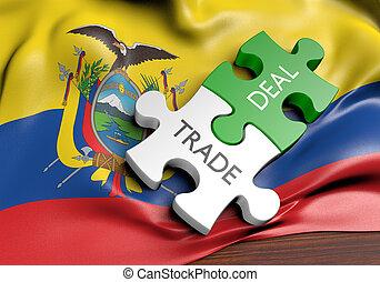 commerce, concept, commercer, affaires, international, équateur