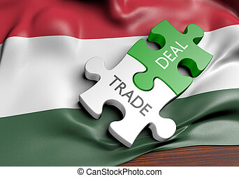 commerce, concept, commercer, affaires, international, hongrie