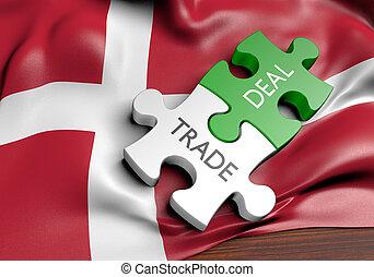commerce, concept, danemark, commercer, affaires, international