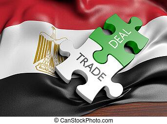 commerce, concept, egypte, commercer, affaires, international