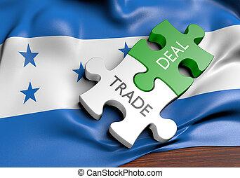 commerce, concept, honduras, commercer, affaires, international