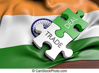 commerce, concept, inde, commercer, affaires, international
