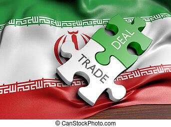 commerce, concept, iran, commercer, affaires, international