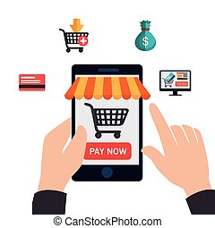 commerce, conception, électronique